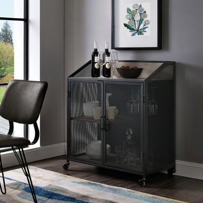 "33"" Industrial Bar Cabinet With Mesh - Saracina Home : Target"