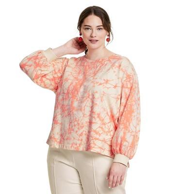 Women's Marble Print High-Low Sweatshirt - Rachel Comey x Target Pink