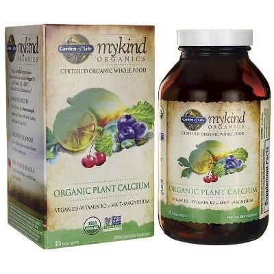 Garden of Life Mineral Supplements Mykind Organics Organic Plant Calcium Tablet 180ct