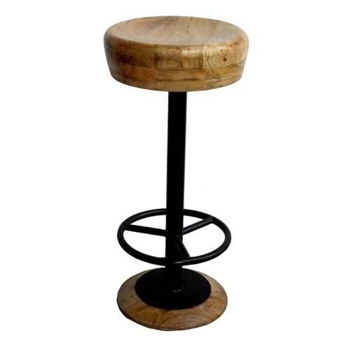 Groovy 30 Industrial Style Adjustable Swivel Bar Stool Antique Wood The Urban Port Lamtechconsult Wood Chair Design Ideas Lamtechconsultcom