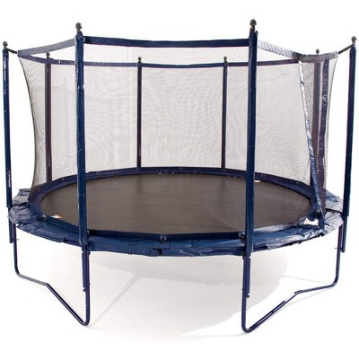 JumpSport Elite 14 Foot StagedBounce Technology Outdoor Kids Trampoline System with Enclosure and Poles