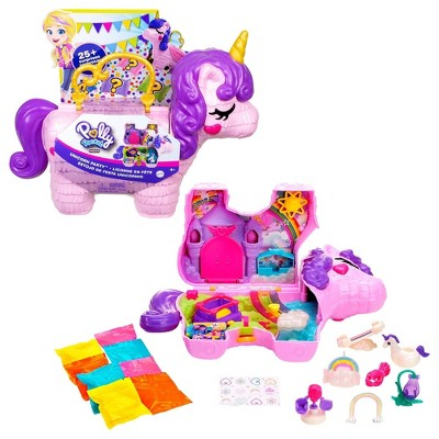 Polly Pocket Unicorn Party Large Compact Playset