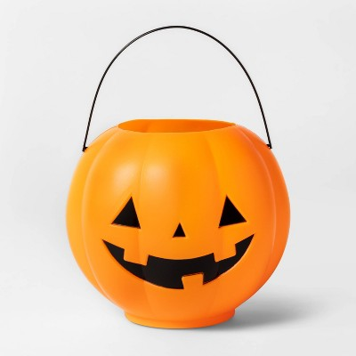 Orange Pumpkin Pail with Handle Halloween Trick or Treat Container - Hyde & EEK! Boutique™