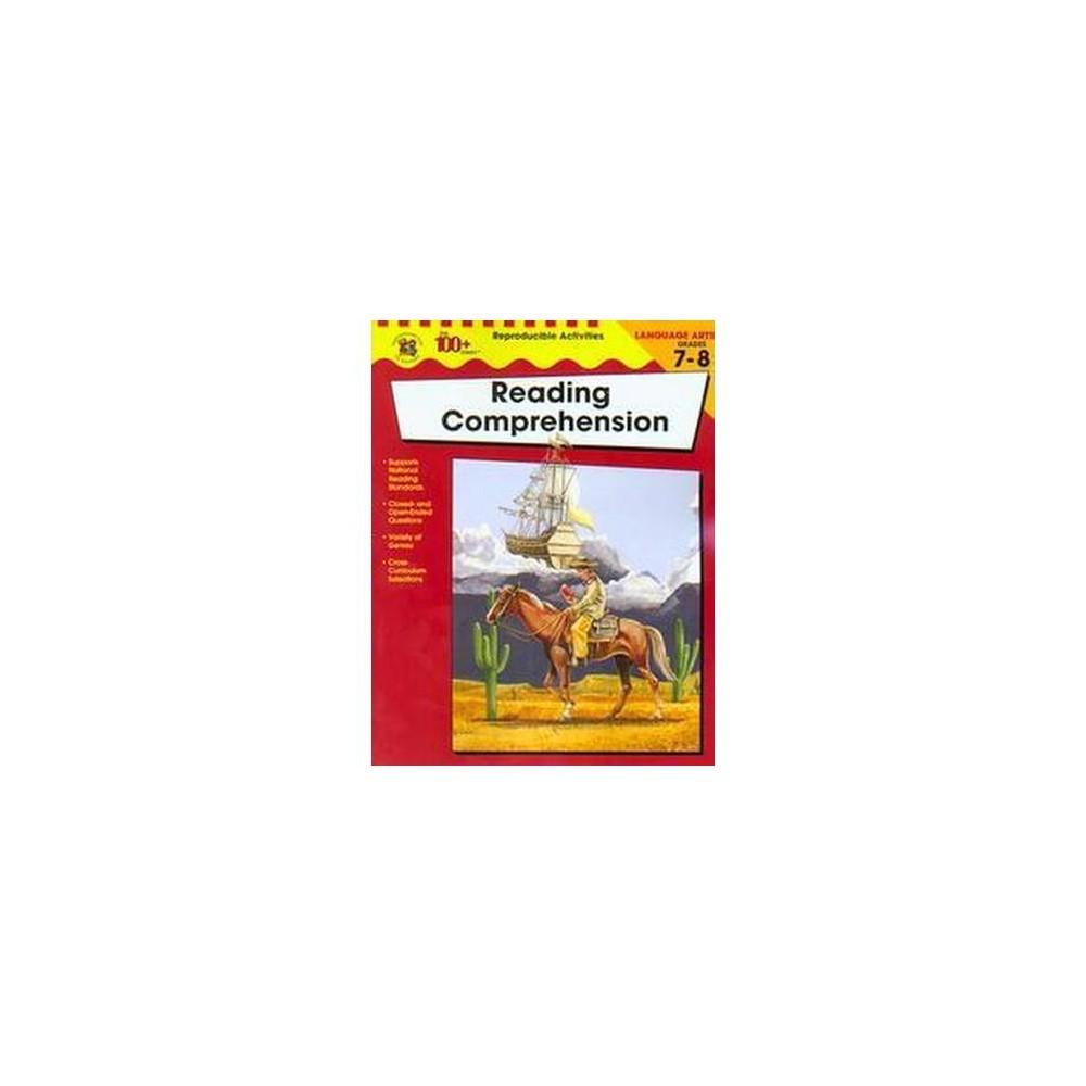 Reading Comprehension, Grades 7 to 8 (Paperback)