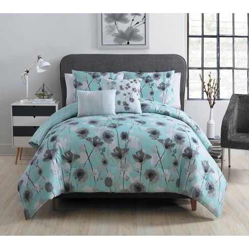 Poppy Floral Comforter Set - VCNY Home - image 1 of 2