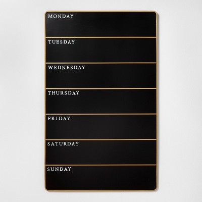 Presentation Chalk Board - Days of the Week - Large - Black - Hearth & Hand™ with Magnolia