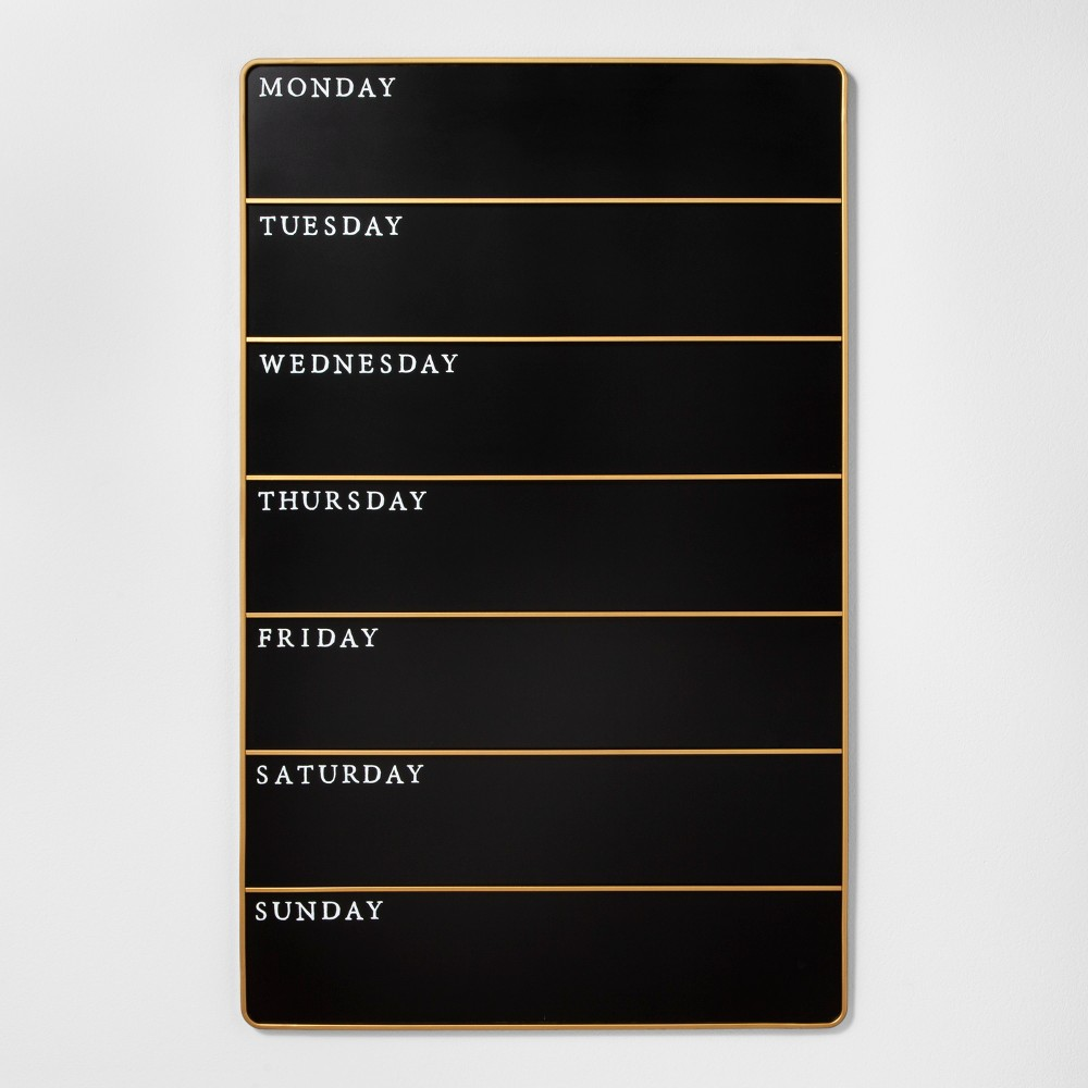 Presentation Chalk Board - Days of the Week - Large - Black - Hearth & Hand with Magnolia, Black Gold