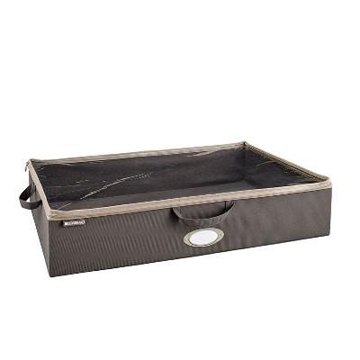 ClosetMaid 3149300 Under Bed Spacious Durable Fabric Organizer Multiple Item Rectangular Nonwoven Polypropylene Storage Bag, Charcoal