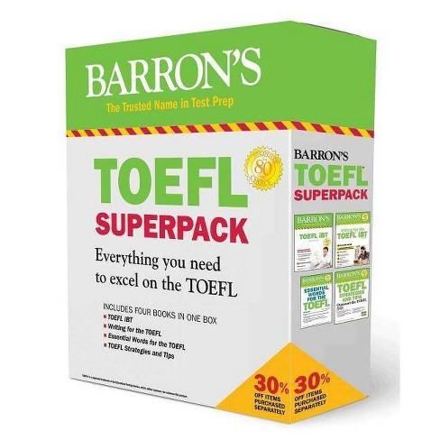 TOEFL IBT Superpack - (Barron's Test Prep) 4 Edition by  Pamela J Sharpe & Stephen J Matthiesen - image 1 of 1