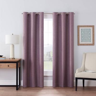 "84""x42"" Windsor Blackout Curtain Panel Plum - Eclipse"