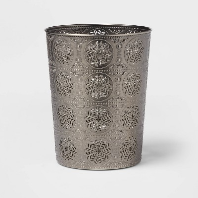 Solid Bathroom Wastebasket Dark Silver - Opalhouse™