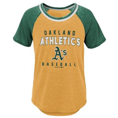 premium selection 0ddb7 65373 MLB Oakland Athletics Girls' Burnout Alt T-Shirt