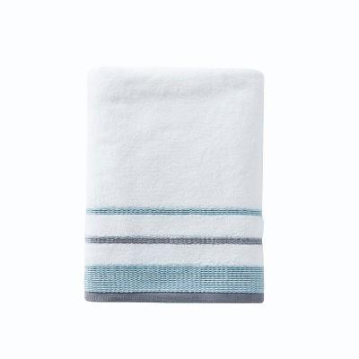 Go Round Bath Towel White - Saturday Knight Ltd.