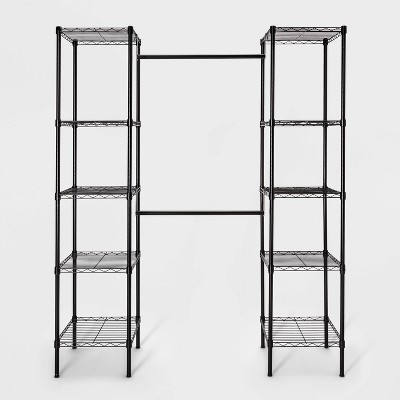 4-8' Wire Closet System Black - Made By Design™