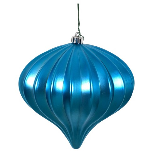 3ct Turquoise Matte Onion-Shaped Christmas Ornament Set - image 1 of 1