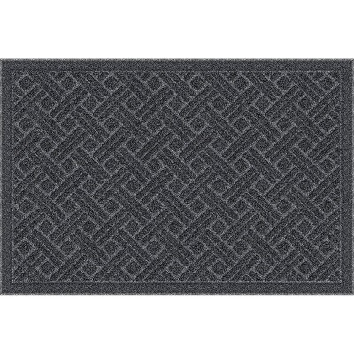 "2'x3'3"" Mega Scrapper Lattice Grate Doormat Charcoal Gray - Apache Mills"