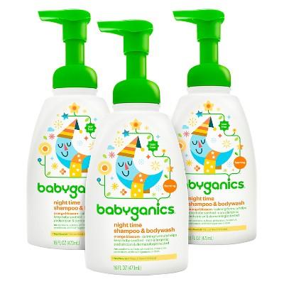 Babyganics Shampoo + Body Wash Orange Blossom 16oz (3pk)