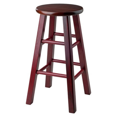 "24"" Ivy Counter Stool - Maroon - Winsome - image 1 of 5"