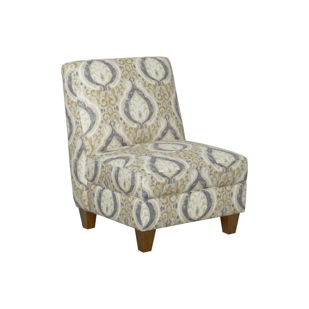 Slipper Chair Medallion Blue/Cream - HomePop was $319.99 now $239.99 (25.0% off)