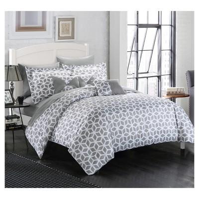 Ritchelle Geometric Diamond Printed Reversible Multi Piece Comforter Set    Chic Home Design : Target