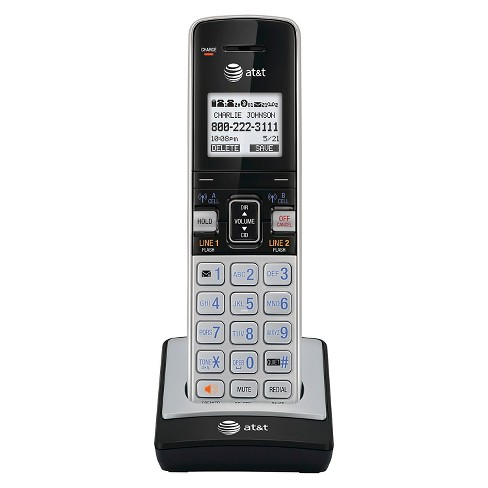 AT&T TL86003 DECT 6.0 Connect to Cell Accessory Handset for AT&T CL86103, Silver/Black - image 1 of 1
