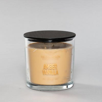 13oz Glass Jar 2-Wick Candle Amber Vanilla - The Collection By Chesapeake Bay Candle