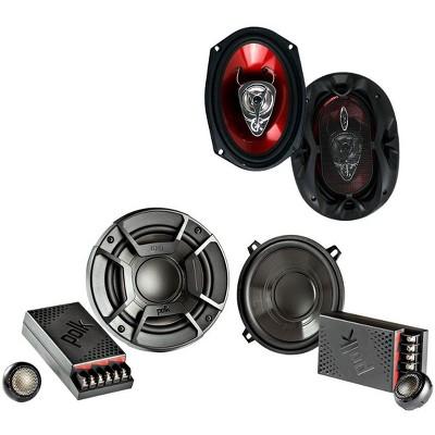 "Polk Audio 5.25"" 300 Watt 2 Way + Boss 6x9"" 3 Way Chaos Exxtreme Car Speakers"