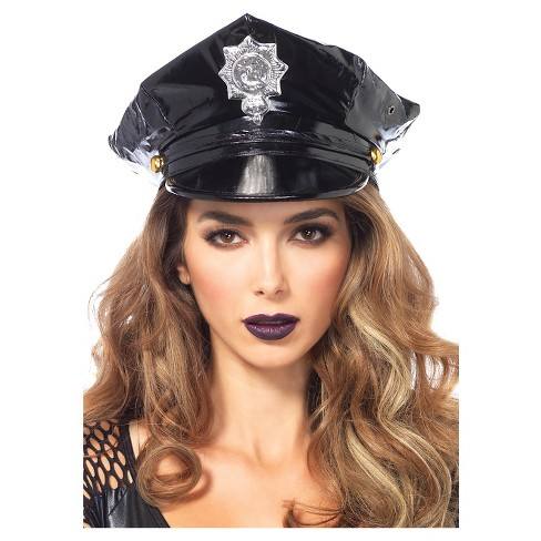 Hat Police Vinyl Bk Black - One Size Fits Most - image 1 of 1