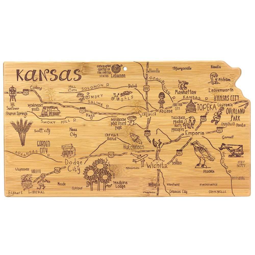 Best Totally Bamboo Destination Kansas Serving and Cutting Board