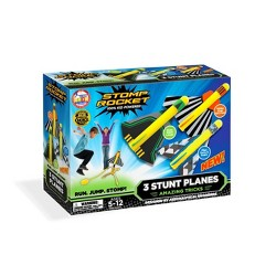 Stomp Rocket Stunt Planes High Flying Planes with Launch Pad 3pk