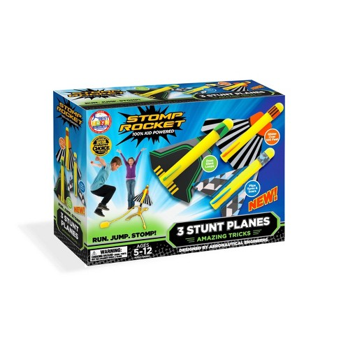 Stomp Rocket Stunt Planes High Flying Planes with Launch Pad 3pk - image 1 of 4