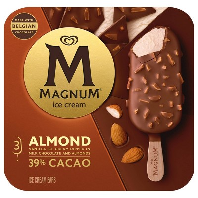 Magnum Vanilla Ice Cream Bars Dipped in Milk Chocolate and Almonds - 3ct