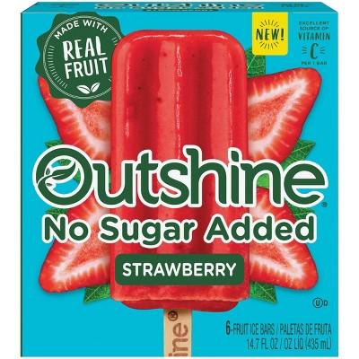 Outshine No Sugar Added Strawberry Frozen Fruit Bar - 6ct