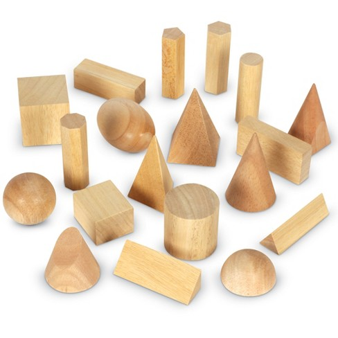 Learning Resources Wood Geometric Solids, Set of 19 - image 1 of 4