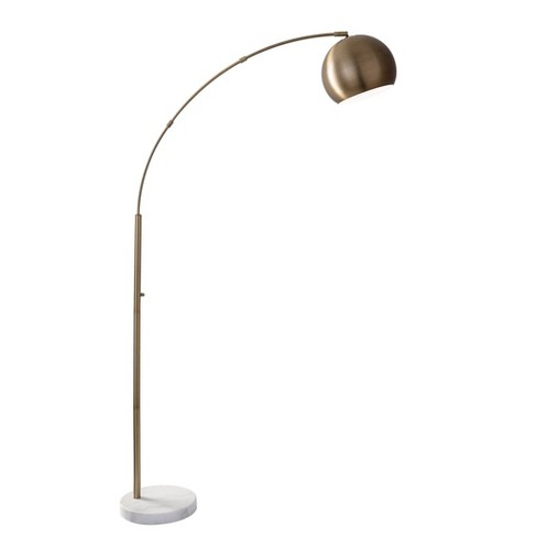 Astoria Arc Lamp Antique Brass  - Adesso - image 1 of 2