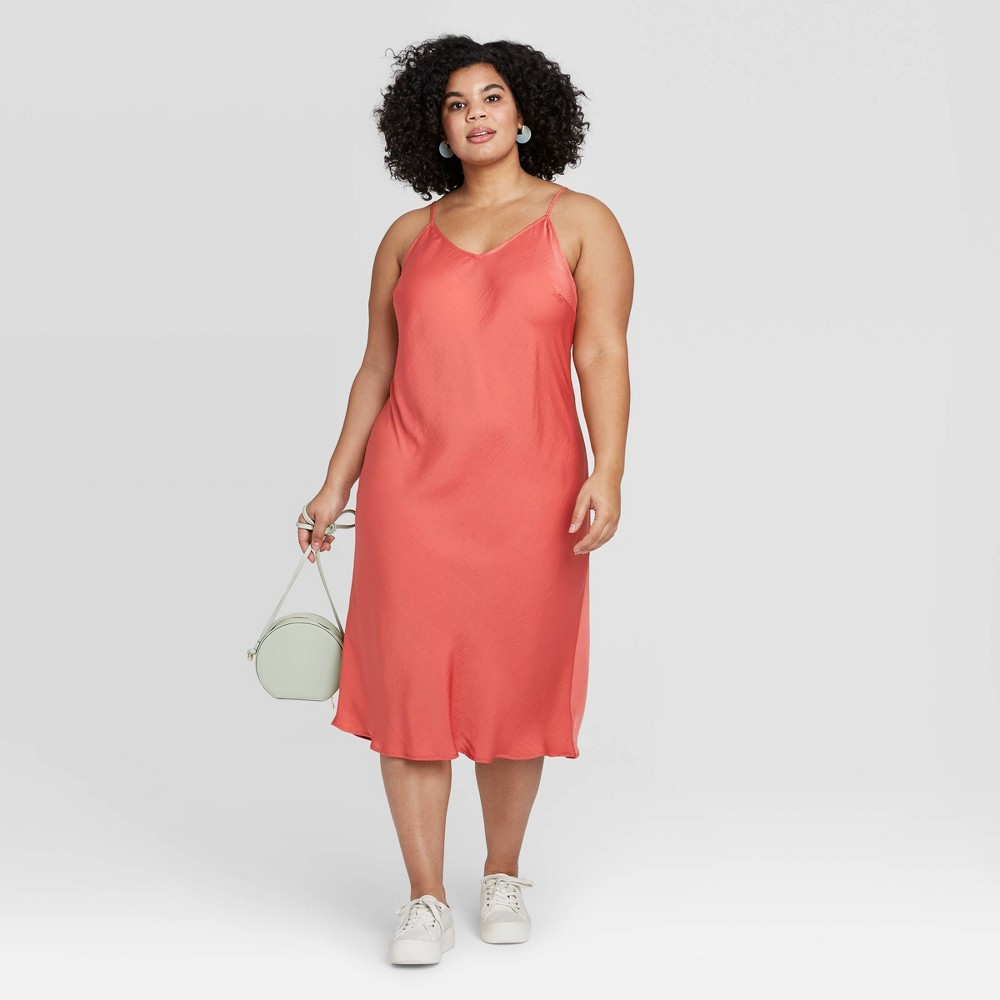 Women's Plus Size Sleeveless Dress - A New Day Red 3X was $24.99 now $17.49 (30.0% off)