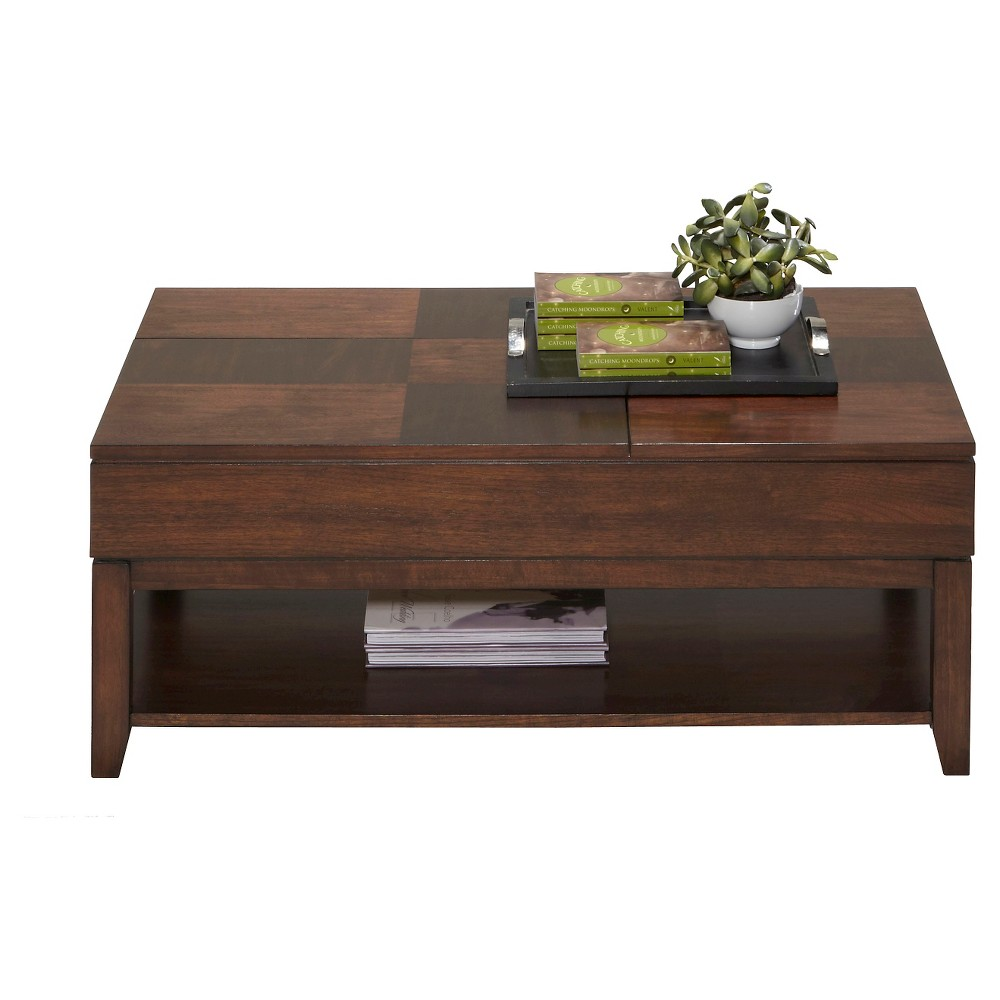 Daytona Coffee Table Double Lift-Top - Regal Walnut (Brown) - Progressive Furniture