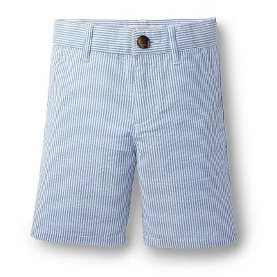 Hope & Henry Boys Blue Seersucker Short, Kids
