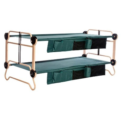 Disc-O-Bed X-Large Cam-O-Bunk Benchable Bunked Double Cot with Organizers, Green