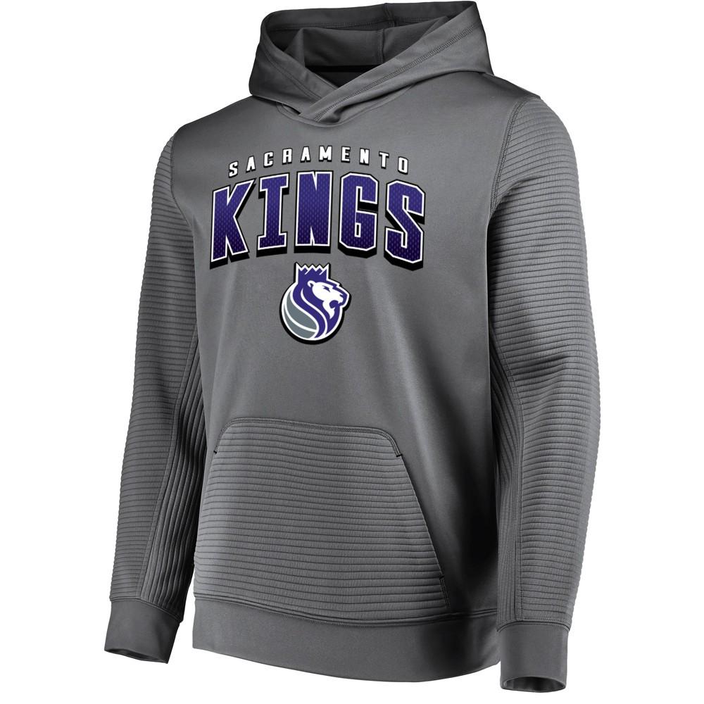 Sacramento Kings Men's Linear Stripe Gray Performance Hoodie L