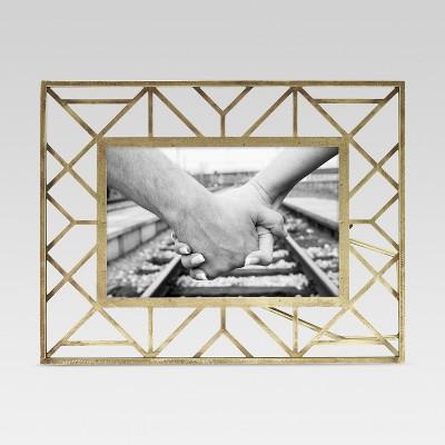 Geometric Gold Single Image Frame 4x6 - Threshold™