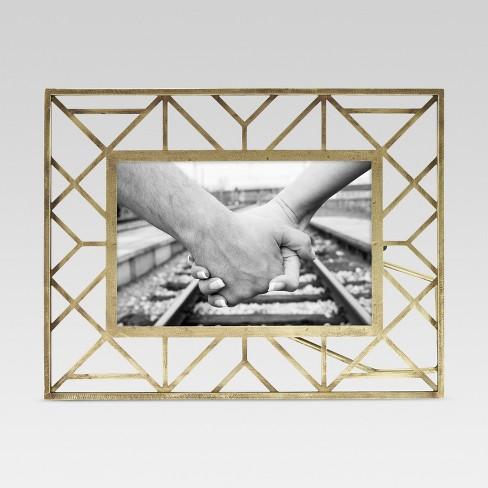 Geometric Gold Single Image Frame 4x6 - Threshold™ : Target