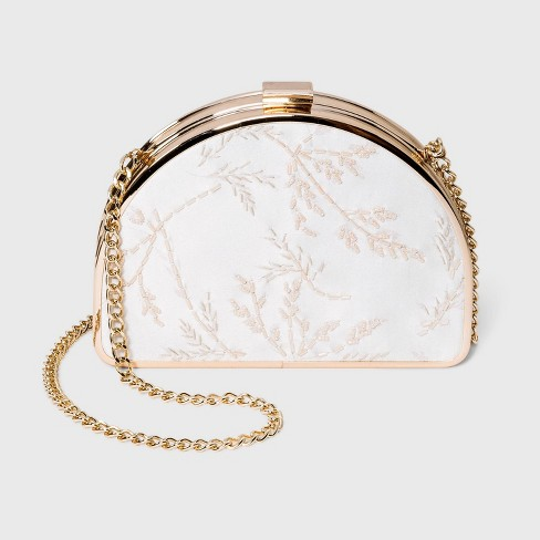 Floral Print Half Moon Mini Clutch - A New Day™ - image 1 of 4