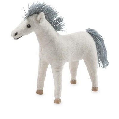 Magic Cabin - Felt Pony with Wooden Hooves, White