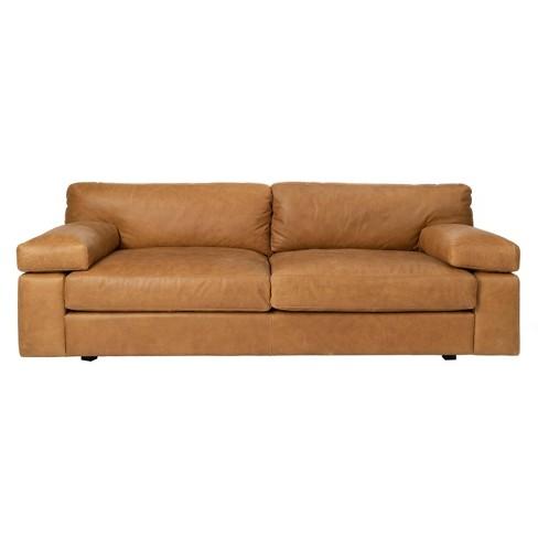 Sampson Italian Leather Sofa Light