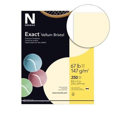 Exact Vellum Bristol Cardstock, 8-1/2 x 11 Inches, 67 lb, Ivory, pk of 250