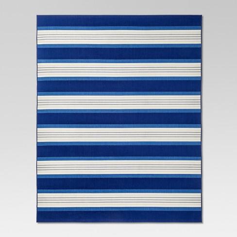 Bold Stripe Outdoor Rug Blue Threshold