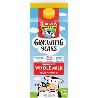 Horizon Organic Growing Years Whole DHA Omega-3 Milk - 0.5gal