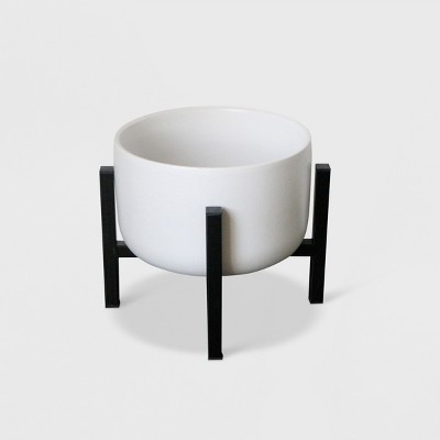 8  Ceramic Planter With Stand White/Black - Project 62™