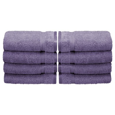 Warm and Absorbent Cotton Assorted 8-Piece Hand Towel Set - Blue Nile Mills